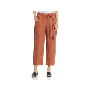 Eileen Fisher Womens Ankle Pants Tencel Twill