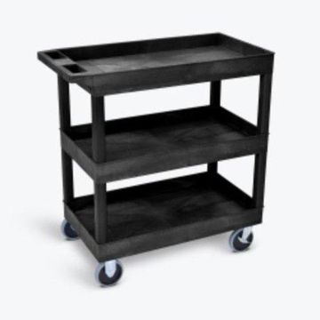 Luxor Heavy-Duty 3-Shelf Tub Cart