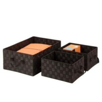 Honey Can Do Set of 3 Nesting Baskets, Espresso