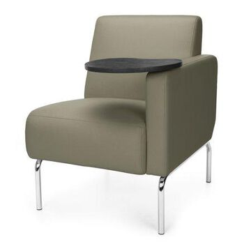 OFM Triumph Series Model 3001LT Polyurethane Modular Left Arm Lounge Chair with Tungston Tablet, Taupe
