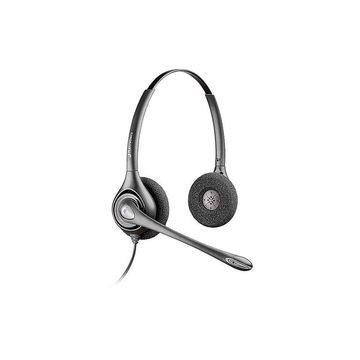 Plantronics SupraPlus Office Headset - Stereo - Quick Disconnect - Wired - Over-the-head - Binaural - Supra-aural - Noise Cancelling Microphone - Noise Canceling