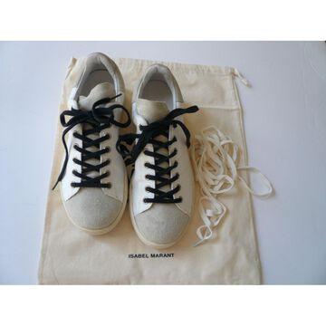 Isabel Marant Etoile White Leather Trainers