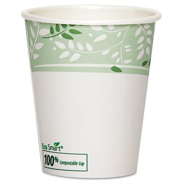 Dixie PLA Hot Cups Paper w/PLA Lining Viridian 10 oz Squat 1000/Carton 2340SPLA