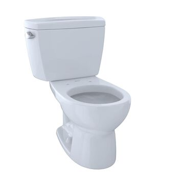 CST743SD-01 Round 1.6 GPF Toilet with Insulated Tank, Cotton White