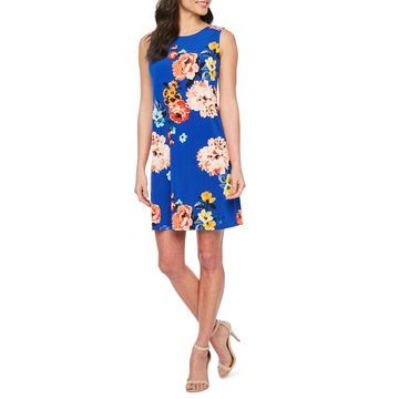 Jessica Howard Sleeveless Floral Shift Dress