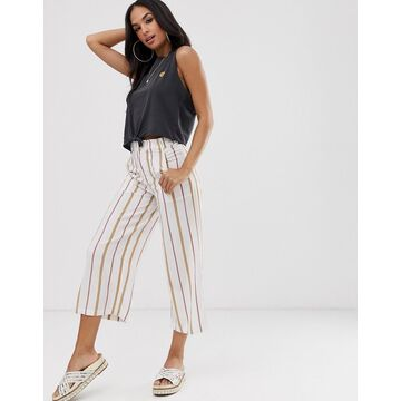 RVCA Fully Noted pants in stripe-Cream