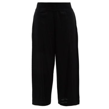 Issey Miyake - Wide-leg Cotton-blend Culottes - Womens - Black