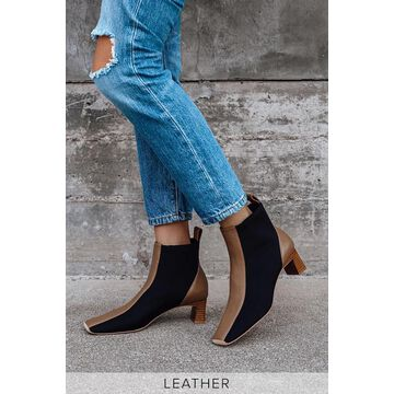 Gwennie Fudge Brown Leather Ankle Booties | Lulus