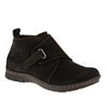B.O.C. Kington Nubuck Leather Bootie - Black - Size 6