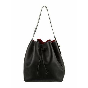 Leather Bucket Bag Black