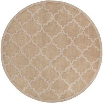 Artistic Weavers Central Park Abbey 7'9 Round Handcrafted Area Rug in Tan