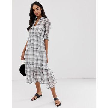 Y.A.S check shirt dress-Multi