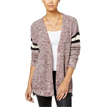 Hippie Rose Womens Striped Cardigan Sweater