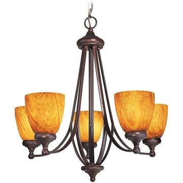 Woodbridge Lighting Kenshaw 5-light Bordeaux Chandelier