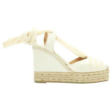 Castaner White Cloth Sandals