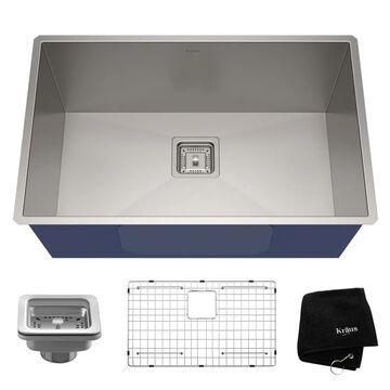 Kraus Pax Undermount 28.5-in x 18.5-in Stainless Steel Single Bowl Kitchen Sink | KHU29