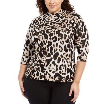 Plus Size Grommet-Trim Sweater