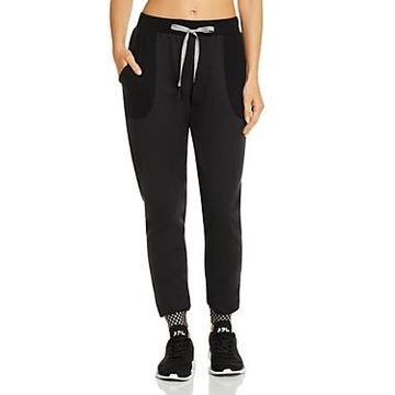 Terez Checkerboard-Cuff Jogger Pants