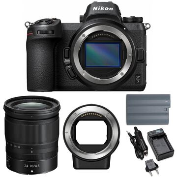 Nikon Z7 Mirrorless Camera with 24-70mm Lens and FTZ Mount Adapter Bundle