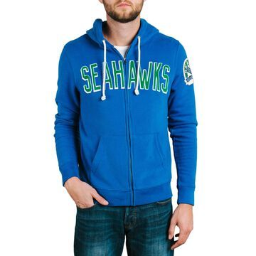 Seattle Seahawks Junk Food Sunday Full-Zip Hoodie - Royal
