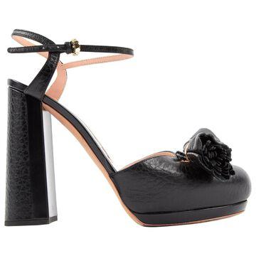 Rochas Black Leather Heels