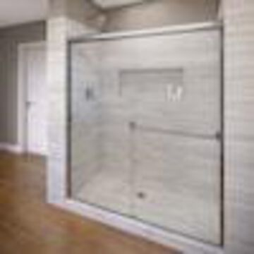 Basco Classic 56-in to 60-in W Semi-frameless Bypass/Sliding Chrome Shower Door