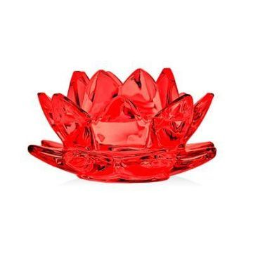 Godinger Water Lily Votive Candle Holder in Red