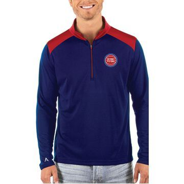 Antigua Men's Detroit Pistons Velocity Quarter-Zip Pullover