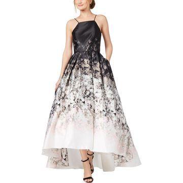 Betsy & Adam Womens Satin Halter Formal Dress