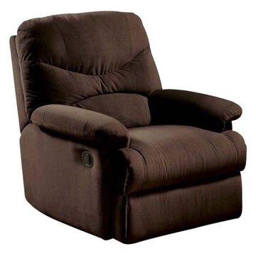Bowery Hill Recliner, Chocolate and Brown