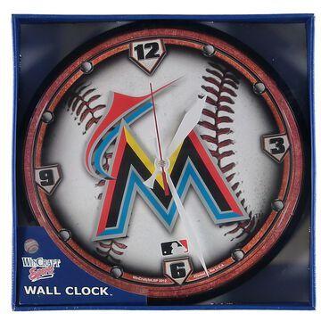 Miami Marlins WinCraft Round Wall Clock