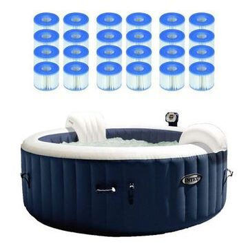 Intex Pure Spa Inflatable 4 Person Hot Tub W/ S1 Filter Cartridges (12 Pack)