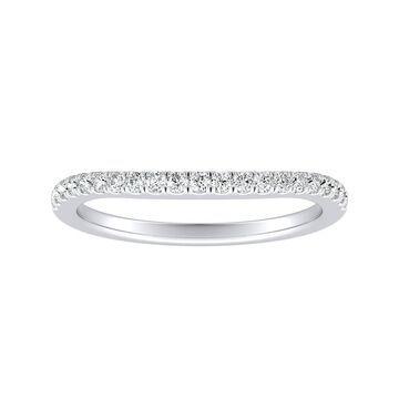 Auriya Platinum 1/6ctw Curved Diamond Wedding Band