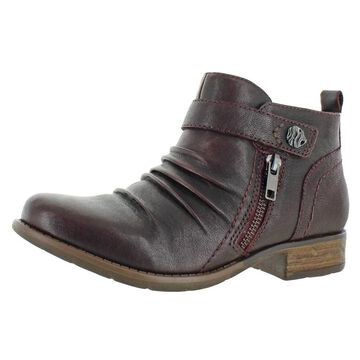Earth Womens Brook Booties Leather Cushioned