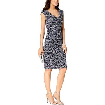 Connected Apparel Womens Cocktail Dress Lace Sheath