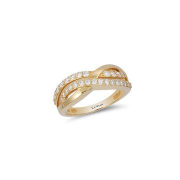 Le Vian Diamond Gladiator Weave Ring, 0.57TCW