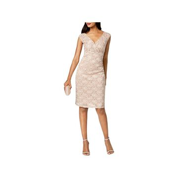 Connected Apparel Womens Cocktail Dress Lace Sequined