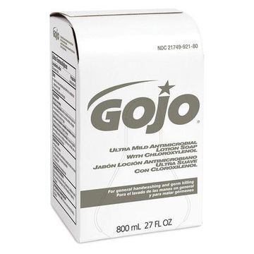 GOJO 9212-12 Bag-in-Box Amber Liquid Hand Soap, Floral, 800ml Cartridge