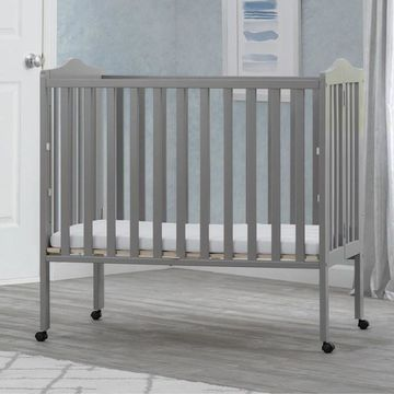 Delta Children Portable Folding Crib With Mattress