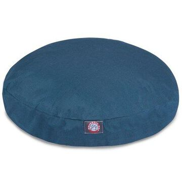 Majestic Pet Solid Round Dog Bed Treated Polyester Removable Cover Navy Blue Large 42 x 42 x 5