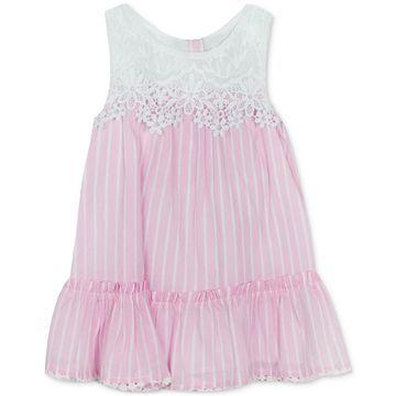 Baby Girls Lace Striped Dress
