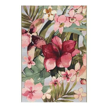 Liora Manne Marina Tropical Floral Indoor Outdoor Rug, Multicolor, 6.5X9.5 Ft
