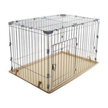 Iris Wire Dog Cage, Small, Silver