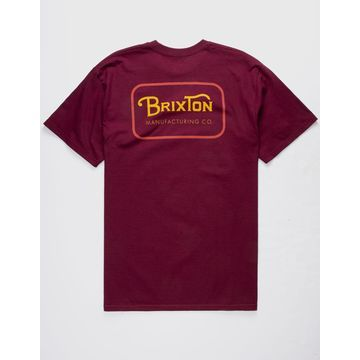 Grade Burgundy Mens T-Shirt