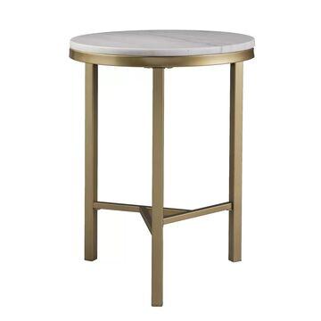 Southern Enterprises Garza Marble Top End Table