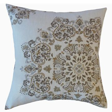 The Pillow Collection Ohtli Damask Decorative Throw Pillow