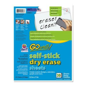 Pacon GoWrite! 30 pk Self-stick Dry Erase Sheets-White