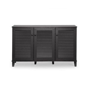 Warren Shoe - Storage Cabinet - Espresso - Baxton Studio
