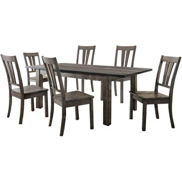 Cambridge Drexel 7-Piece Dining Set with Six Wooden Chairs