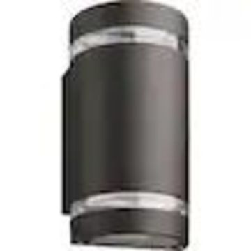 Lithonia Lighting OLLWU 9.75-in H Bronze LED Outdoor Wall Light